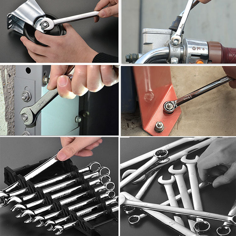 Ratcheting Box Combination Wrenches For Car Repair Ring Spanner Hand Tools