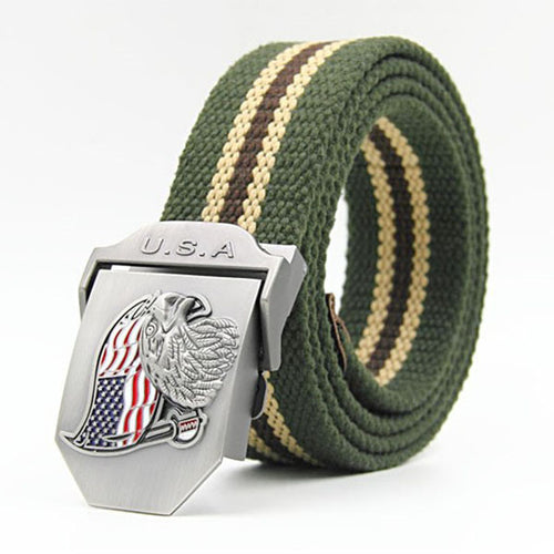 Casual USA Eagle Men's Canvas Belt