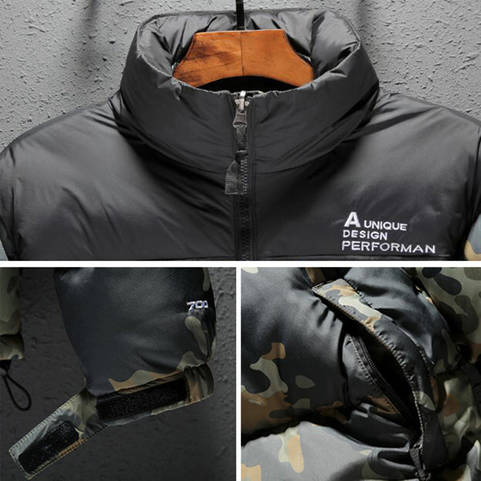 New Fashion Sports Thick Hooded Zipper Men's Warm Coat