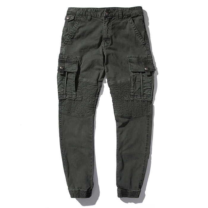 Casual Washed Loose Multi-Pocket Men's Cargo Pants - KINGEOUS