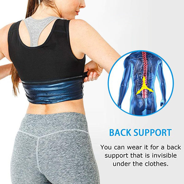 Women Men Waist Trainer Sweat Vest for Weight Loss