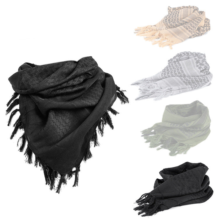 Outdoor Tactical Cotton Windproof And Dustproof Men Women Square Scarf