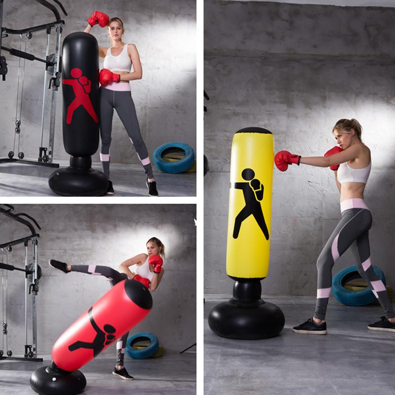 Vertical Inflatable PVC Column Fitness Decompression Hitting Boxing Sandbag