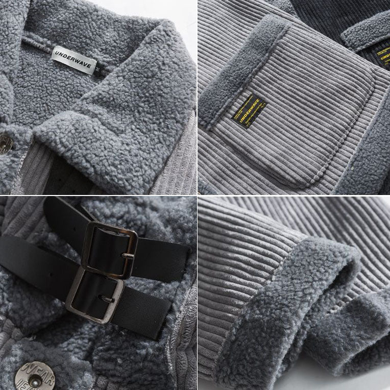 Thicken Loose Lamb Cashmere Loose Men's Casual Outwear