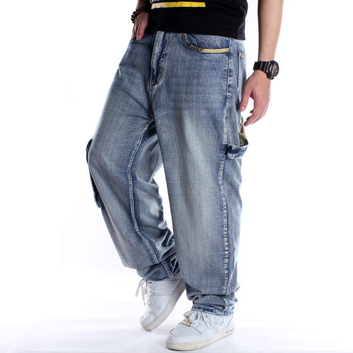 Light Multi-Pocket Loose Jeans Skate Men pants