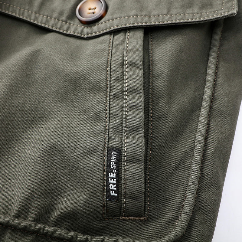 New Winter Fleece Zipper Men's Jacket