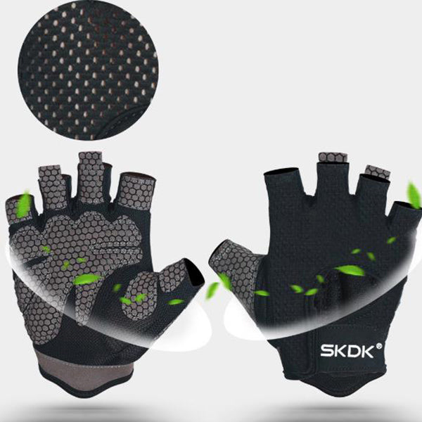 Thin Sweat-absorbent Fitness Non-slip Half-finger Sports Gloves