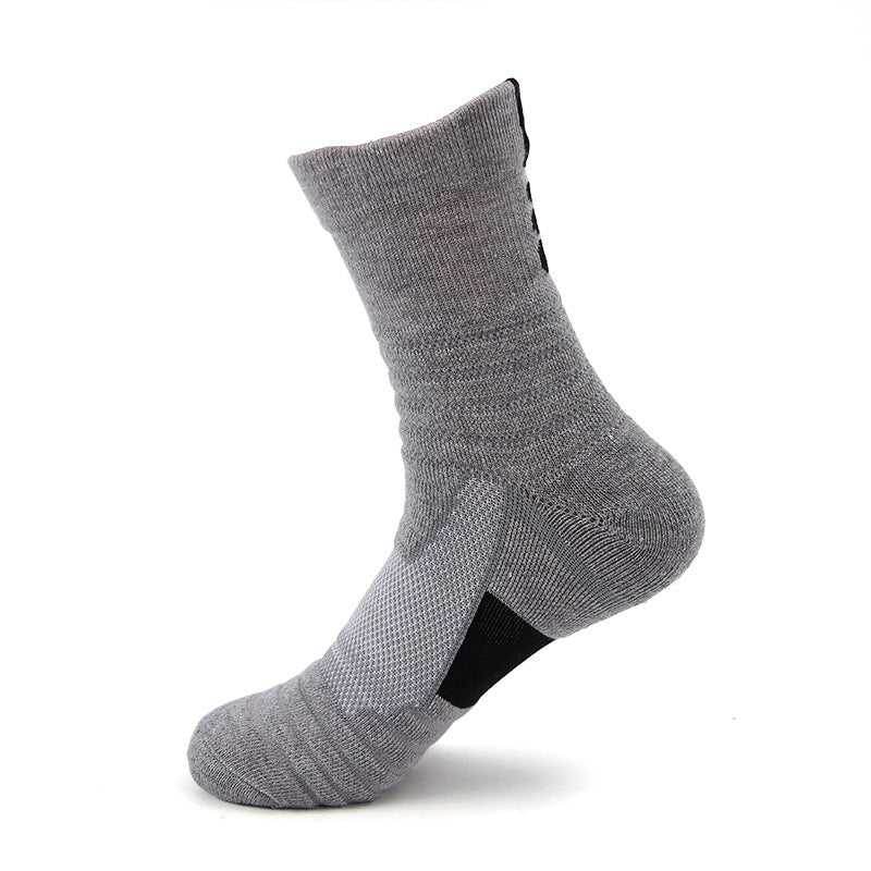 Sweat Absorption and Non-skid Sports Badminton Running Basketball Socks