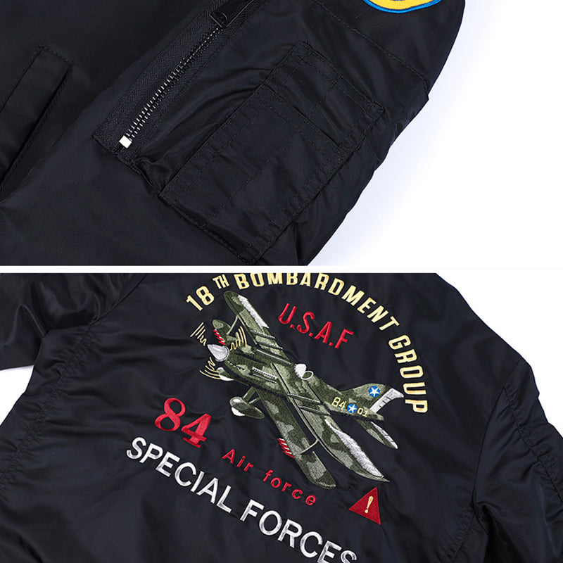 Ma-1 Aircraft Embroidered Men's Bomber Jacket