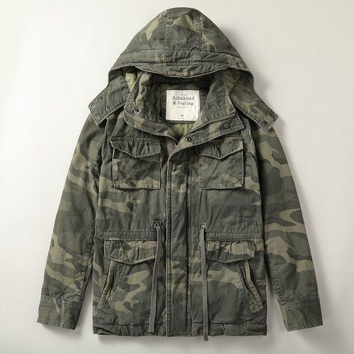 Military Thick Camo Pure Cotton Warm Parkas Men Jacket