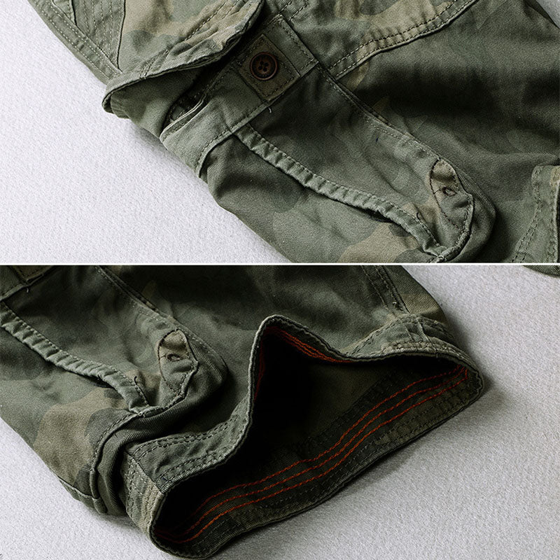 Casual Camo Large Pocket Men's Shorts
