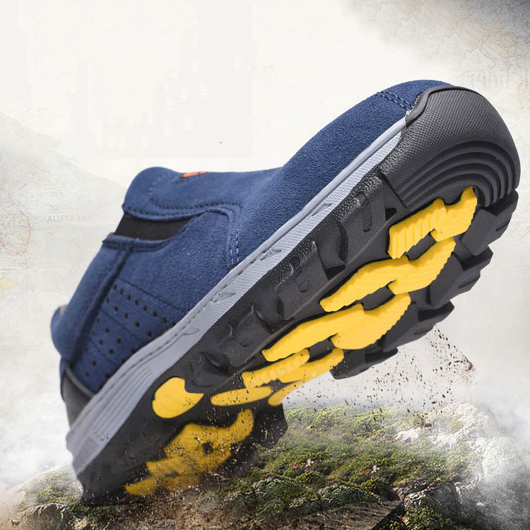 Breathable Male Anti-smashing and Piercing Safety Shoes - KINGEOUS