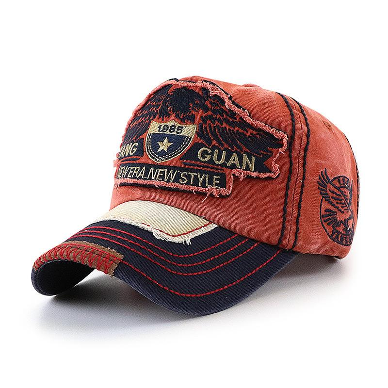 Fashion  Embroidery Washed Retro Baseball Cap Men And Women Hat