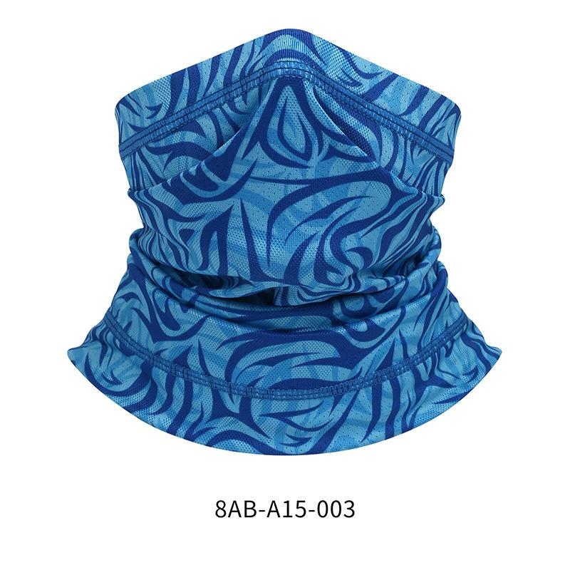 Outdoor Fashion Printed Dustproof Sunscreen Men Women Half Face Scarf