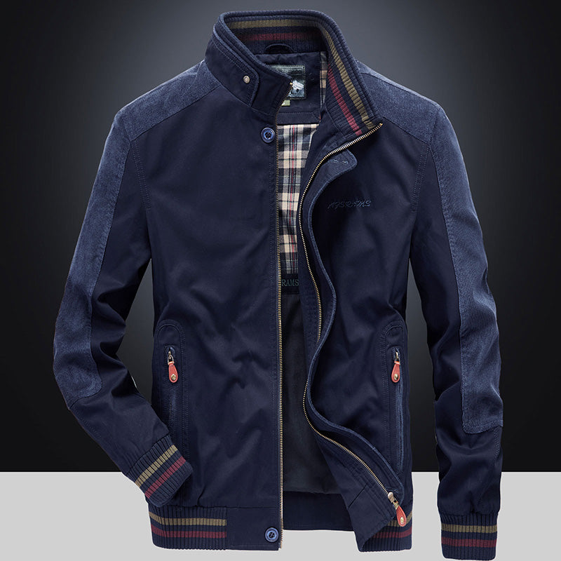 Casual urban Plus Size Stand Collar Men's Jacket