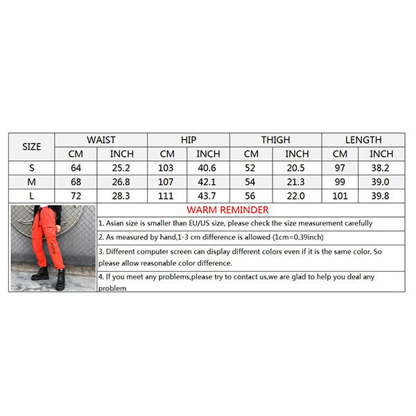 Hip-hop Plus Pocket Lace Design Women's Cargo Pants