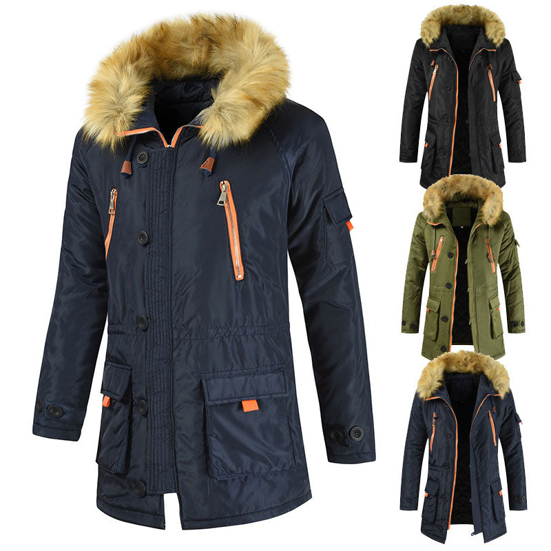Winter Hot Style Thicken Casual Hooded Men Coat