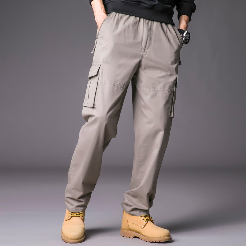 Loose plus Size Multi-pocket Washed Men Cargo Pants