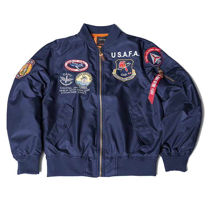 Air Force Badge Embroidery Men's Bomber Jacket