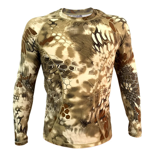 Outdoor Camo Tight-fitting Quick-drying Men's T-shirt