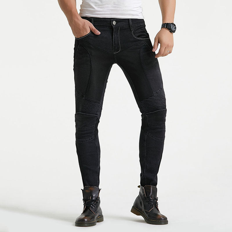 Racing Casual Slim-fit Stretch Mesh Stitching Men's Pants