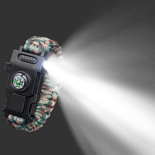 Outdoor Survival Bracelet Led Multi-function Emergency Hand Rope