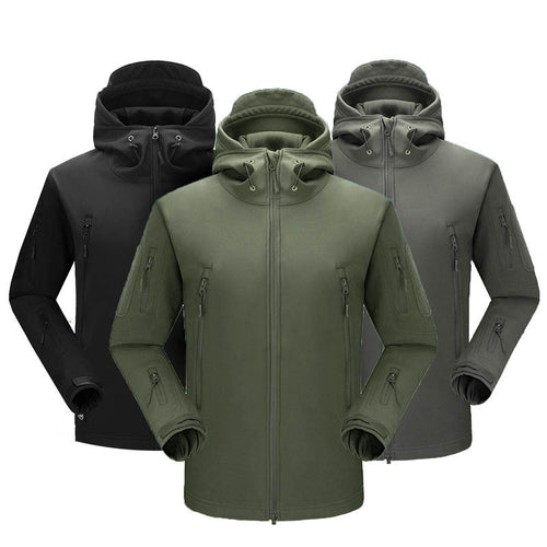 Windbreaker Soft Shell Men's Outdoor Coat, Shark Skin Warmth Men's Tactical Jacket