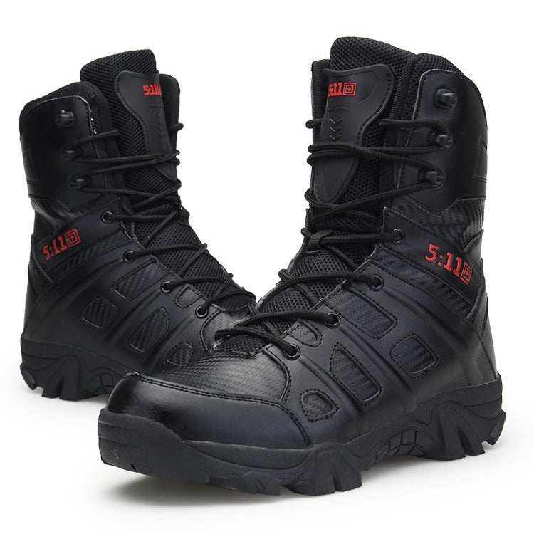 Military Train Tactics Ankle Men's Boots