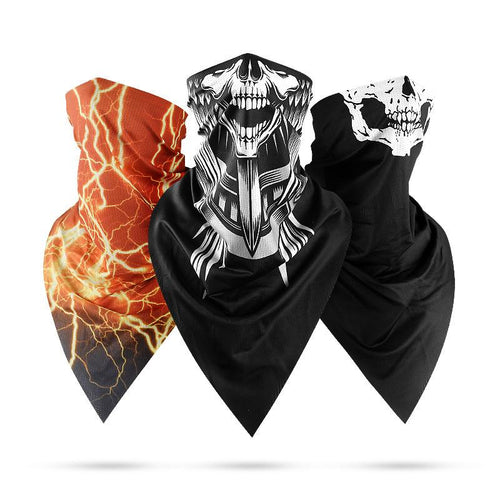 Skull Windproof Magic Scarf Half Face Cover