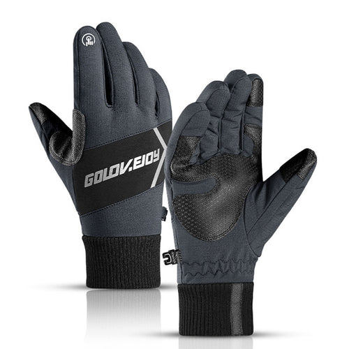 Outdoor Windproof Warm Night Riding Reflective Men Women Gloves
