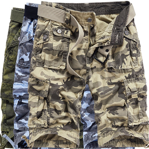 Outdoor Casual Plus Size Pocket Men's Shorts