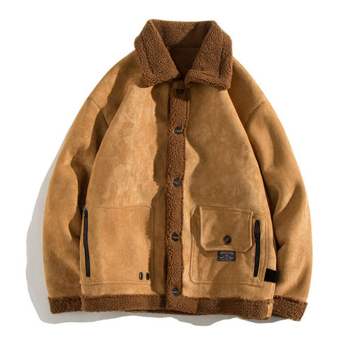 Chic All-match Warm lambswool Men's Casual Jacket