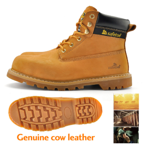 Genuine Cow Leather Anti-expose Steel Toe Cap Hiker Boots