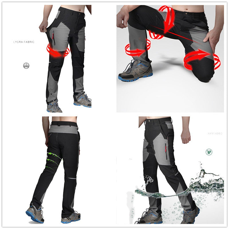 Ultra-Thin Breathable Waterproof Quick Drying Elastic Men's Pants