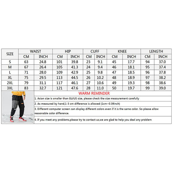Fashion Casual Loose Elastic Ankle Banded Men's Pants