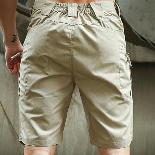 Tactical Outdoor Plaid Fabric Men's Shorts
