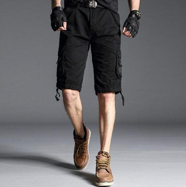 Tactical Cotton Plus Size Loose Multi-pocket Men's Shorts