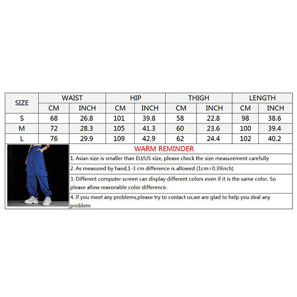 Fashion Multi-pocket Women's Ankle Banded Cargo Pants