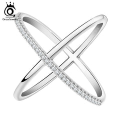 Infinite Ring Design With 36pc Micro Paved Cubic Zirconia