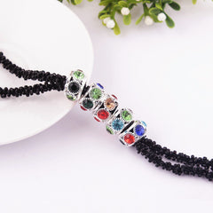 Multi-Layer Long Sparkling Beaded Necklace