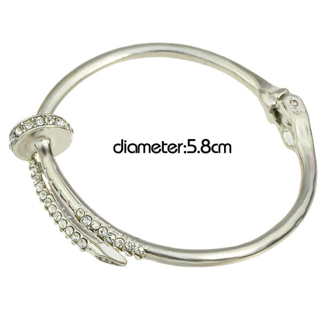 Cute Open Cuff Rhinestone Bangle Bracelet