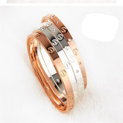 Rose Gold & Silver Oval-Shaped Bracelet With Zirconia