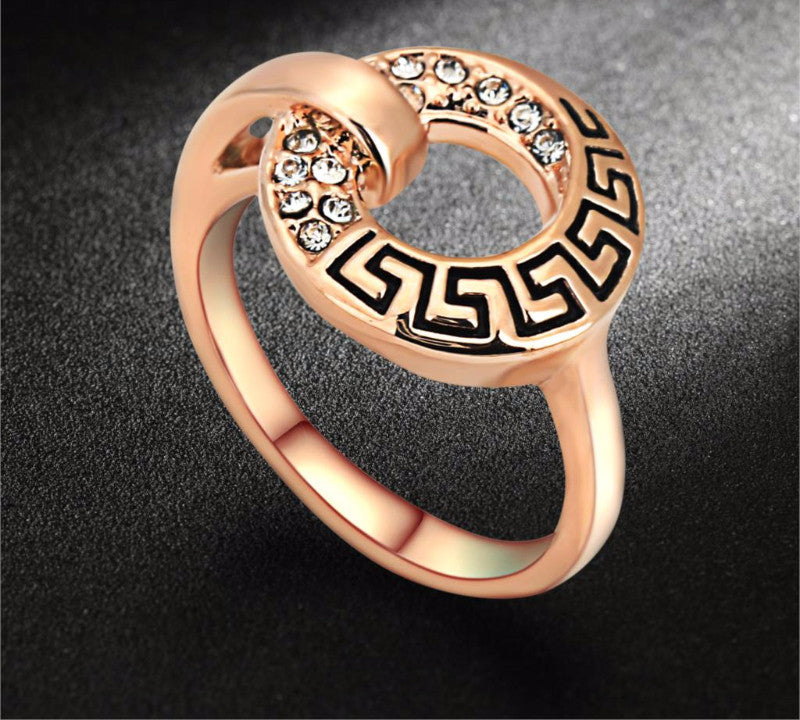 18K Rose Gold Plated/Silver Tone Cubic Zirconia Ring