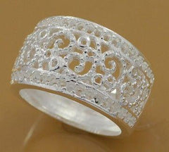 925 Silver Plated Wide Ring - 4 Sizes