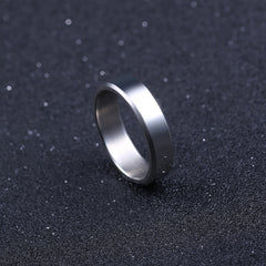 6mm Titanium Band Brushed Ring - 5 Color Options