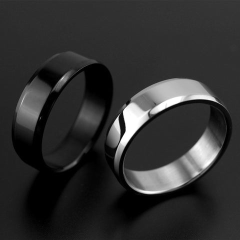 6mm Titanium Band Brushed Ring