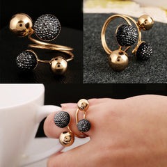 Little Ball Resin Bean Design Ring