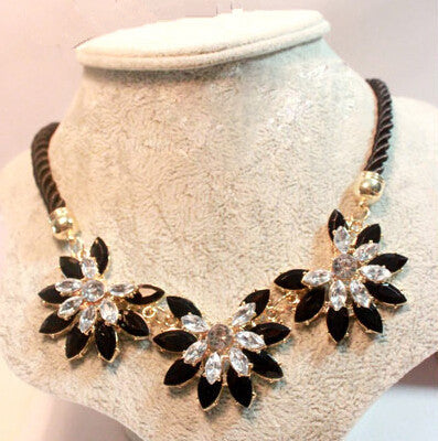 Weave Flower Choker Rope Necklace
