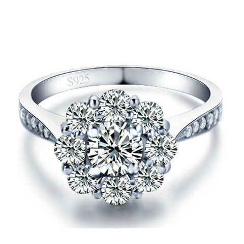 925 Silver Plated Cubic Zirconia Ring