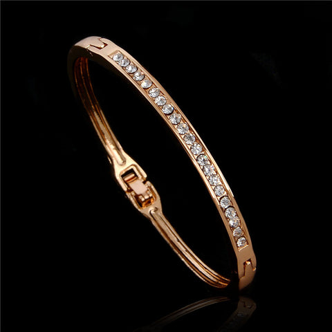 18K Rose Gold Filled Austrian Crystal Bracelet